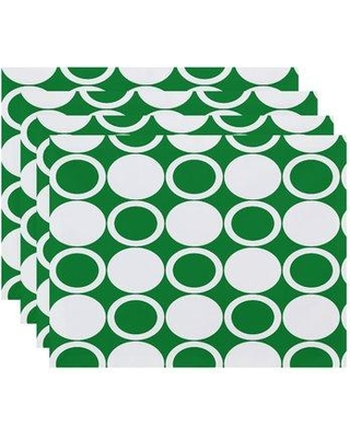 """Latitude Run Willems Small Modcircles 18"""" Placemat LTTN5535 Color: Green"""