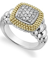 LAGOS Diamond Lux Square Ring, Size 7 at Nordstrom