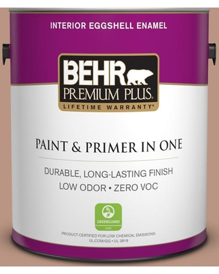 BEHR Premium Plus 1 gal. #S190-4 Spiced Brandy Eggshell Enamel Low Odor Interior Paint and Primer in One