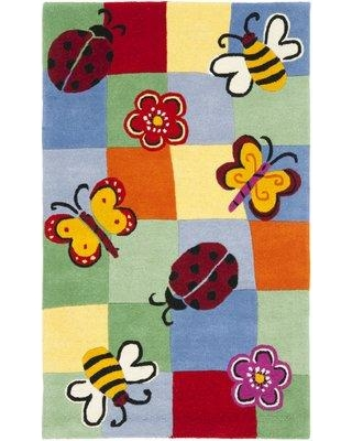 Harriet Bee Claro Hand-Tufted Wool Blue Area Rug HBEE1356 Rug Size: Rectangle 4' x 6'
