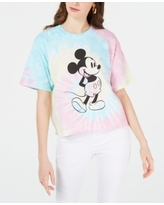 Disney Juniors' Cotton Mickey Mouse Tie-Dyed T-Shirt