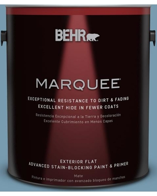 BEHR MARQUEE 1 gal. #550F-4 Cool Dusk Flat Exterior Paint and Primer in One
