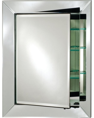 Afina Radiance Cabinets 18 in. x 31 in. Recessed Medicine Cabinet, Silver