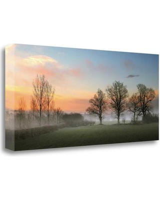 """Tangletown Fine Art 'The Mist' Photographic Print on Wrapped Canvas ICG659D-2813c Size: 18"""" H x 40"""" W"""
