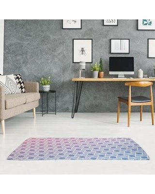 East Urban Home Mcguigan Hexagons and Triangles Pink Area Rug W000235014 Rug Size: Rectangle 2' x 3'