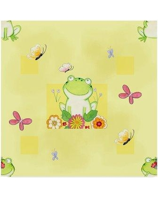 """Trademark Art 'Froggie' Acrylic Painting Print on Wrapped Canvas ALI33467-CGG Size: 24"""" H x 24"""" W x 2"""" D"""