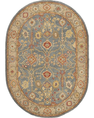 Safavieh Antiquity Blue/Ivory 5 ft. x 7 ft. Oval Area Rug