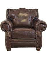 Westland And Birch Westford Genuine Top Grain Leather Club Chair  Westford C  Upholstery: