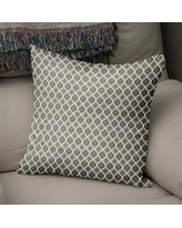 """George Oliver Underhill Modern Rustic Cotton Throw Pillow GOLV1834 Size: 24"""" H x 24"""" W x 5"""" D Color: Grey/ Ivory"""