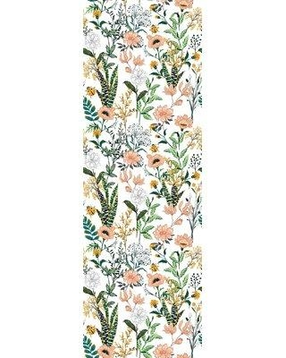"""Bungalow Rose Margarito Removable Beautiful Floral 8.33' L x 25"""" W Peel and Stick Wallpaper Roll W001105464"""