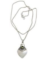 Sterling Silver and Peridot Locket Necklace