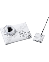True Love Guest Book with Pen Set, White