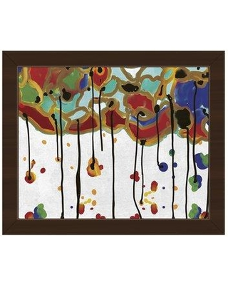 """Click Wall Art 'Melting Colorful Trees' Framed Painting Print TRE0000264FR Size: 22.5"""" H x 26.5"""" W x 1"""" D Frame Color: Espresso"""