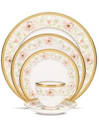 New Deal For Noritake Blooming Splendor Bone China 5 Piece Place Setting Service For 1 Bone China Ceramic In Green Pink Wayfair 4892 05e