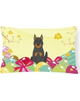 The Holiday Aisle® Easter Eggs Beauce Shepherd Dog Lumbar PillowPolyester/Polyfill/Polyester/Polyester blend, Size 12.0 H x 16.0 W x 3.0 D in