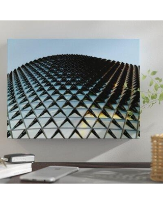 """East Urban Home 'Abstract Shape Patterns' Graphic Art Print on Canvas BI059251 Size: 24"""" H x 32"""" W x 2"""" D"""