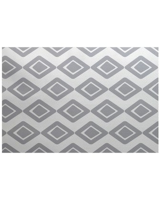 Remarkable Deals On Ferrier Geometric Flatweave Gray Area Rug George Oliver Rug Size Rectangle 2 X 3