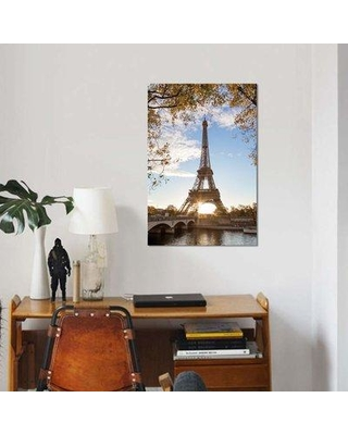 """East Urban Home 'Autumn In Paris' By Matteo Colombo Graphic Art Print on Wrapped Canvas ETRC6696 Size: 26"""" H x 18"""" W x 0.75"""" D"""