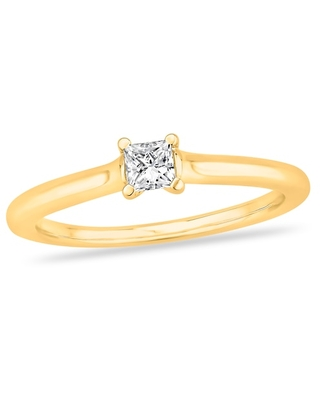 Jared Diamond Solitaire Engagement Ring 1/4 ct tw Princess-cut 14K Yellow Gold