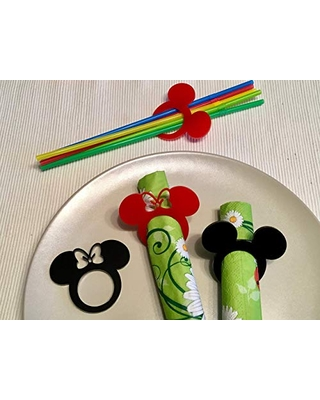 Minnie /& Mickey Mouse Clubhouse Birthday Party Supplies,Tableware /& Decorations