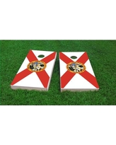 Custom Cornhole Boards State of Florida Flag Cornhole Game Set CCB123-2x4-AW / CCB123-2x4-C Bag Fill: Whole Kernel Corn