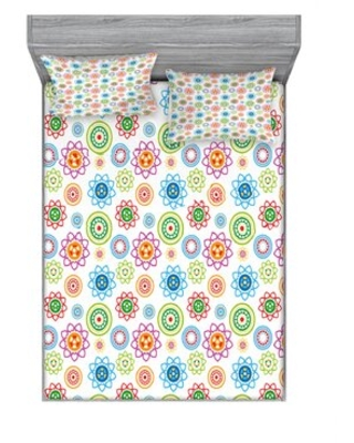 Decorative Floral Sheet Set East Urban Home Size: Full/Double