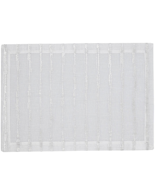 Set of 4 Cannes Place Mats - White/Silver - Mode Living