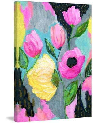"""Marmont Hill """"Bold Flowers"""" by Jill Lambert Painting Print on Wrapped Canvas"""