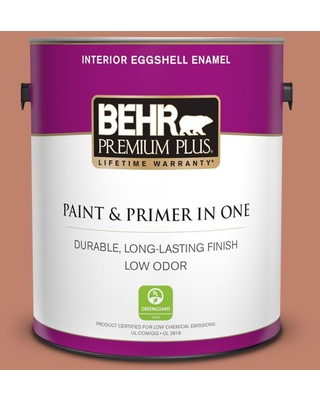 BEHR PREMIUM PLUS 1 gal. #QE-03 Clay Ground Eggshell Enamel Low Odor Interior Paint and Primer in One