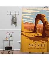 Deny Designs Anderson Design Group Arches Shower Curtain 13937-shocur