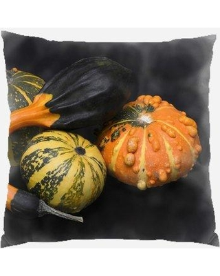 Huge Deal On The Holiday Aisle Hanshaw Pumpkin Indoor Outdoor Throw Pillow Polyester Polyfill Polyester Polyester Blend In Orange Green Black Size 18x18