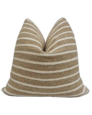 Tracy 24x24 Pillow - Camel/White