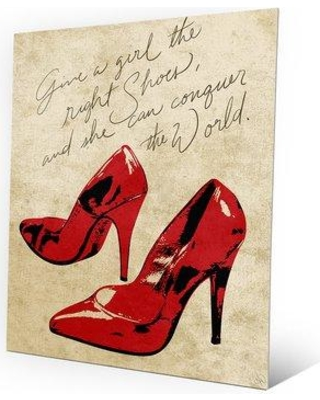 """Click Wall Art Metal The Right Shoes Painting Print on Plaque FSN0000009MTL Size: 14"""" H x 11"""" W x 1"""" D"""