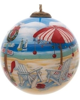 The Holiday Aisle Holiday Beach Signs Ball Ornament THLY1588