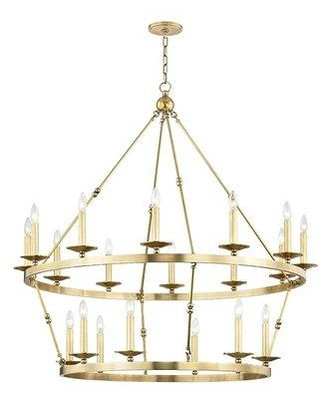 Longshore Tides Castiglia 20-Light Candle Style Tiered Chandelier CG171244 Finish: Aged Brass