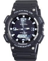Men's Casio Solar Sport Watch - Black (AQS810W-1AVCF)