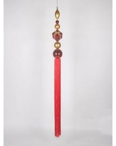 "Queens of Christmas 67"" Finial Dangle Ornament WL-FIN-DNG-67 Color: Red/Gold"