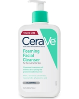 Cerave Foaming Facial Cleanser for Normal to Oily Skin , Fragrance Free - 16oz
