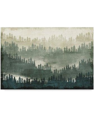 """Millwood Pines 'Mountainscape' Acrylic Painting Print on Wrapped Canvas MIPN1365 Size: 30"""" H x 47"""" W x 2"""" D"""