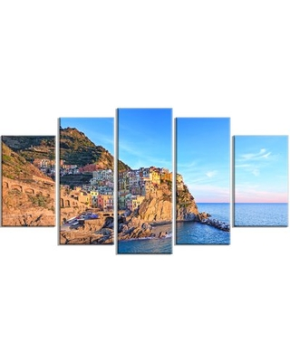 New Deal On Manarola Village Cinque Terre Italy 5 Piece Wall Art On Wrapped Canvas Set Design Art