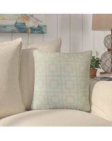 Rosecliff Heights Packer Modern Geometric Cotton Throw Pillow ROHE7798 Color: Mint