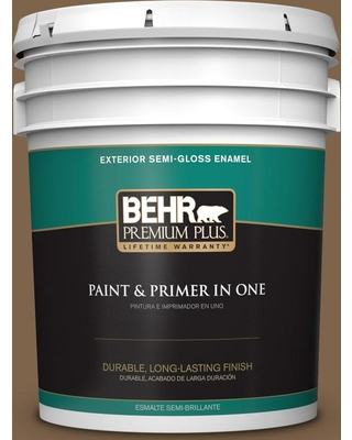 BEHR Premium Plus 5 gal. #PPU4-19 Arts and Crafts Semi-Gloss Enamel Exterior Paint and Primer in One