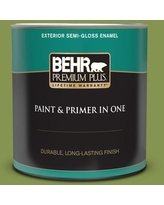 Amazing Savings On Behr Premium Plus 1 Qt M360 3 Avocado Whip Semi Gloss Enamel Exterior Paint And Primer In One