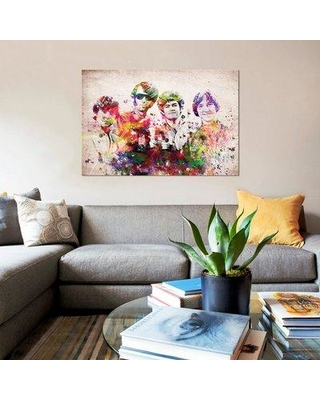 """East Urban Home 'Monkees' Graphic Art Print on Canvas UBAH5173 Size: 26"""" H x 40"""" W x 1.5"""" D"""