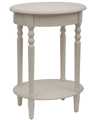 Simplify Oval Accent Table White - Décor Therapy