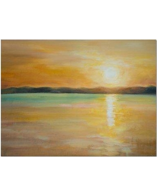 """East Urban Home 'Sunset over the Horizon' Graphic Art Print on Wrapped Canvas ETUC2653 Size: 30"""" H x 40"""" W 1.5"""" D"""