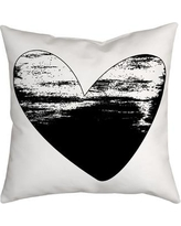 SafiyaJamila Holiday Treasures Watercolor Sketchy Love Heart Throw Pillow SketchyLove_ Color: Black