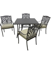 Darby Home Co Boulevard 5 Piece Dining Set with Cushions DBYH2214