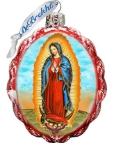 The Holiday Aisle Lady of Guadalupe Glass Ornament THLY6688
