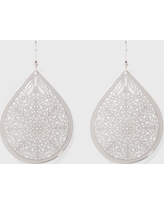 Women's Fashion Earring Filigree - A New Day Silver, Shiney Silver
